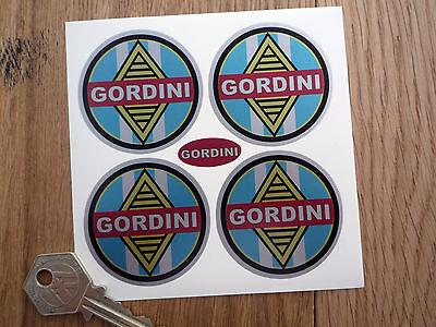 GORDINI WHEEL CENTRES STYLE STICKERS Renault Sport etc