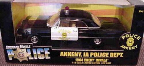 1964 Chevy Impala Ankeny, Ia police 1 18 ertl american muscle 32817