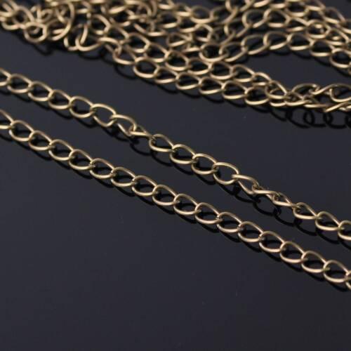 5 M 3.2mm//1.8mm fer metal extension Ouvrir le lien Chaînes À faire soi-même Jewelry Making