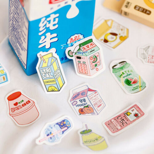 50Pcs Cute Plant Stationery Stickers Albums Photos Diary Scrapbooking DIY Kids
