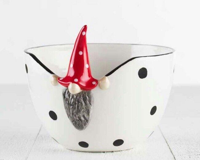 Julepynt, 2 stk Peek-a-boo Santa skåle