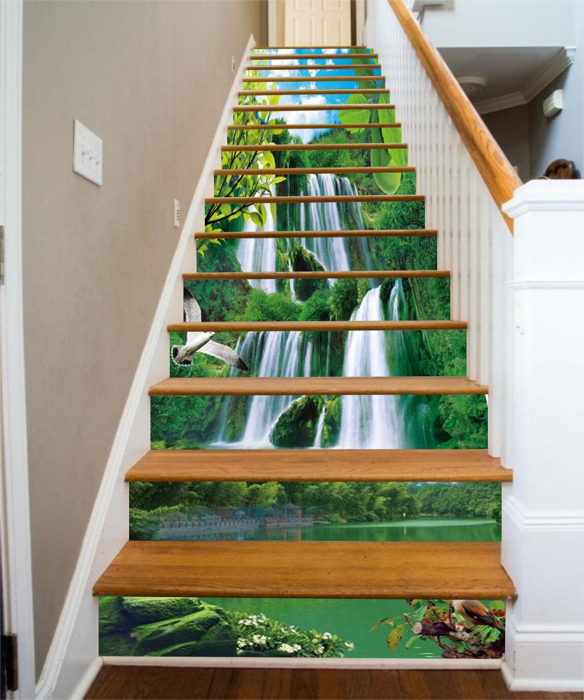 3D Waterfall 724 Stair Risers Decoration Photo Mural Vinyl Decal Wallpaper CA