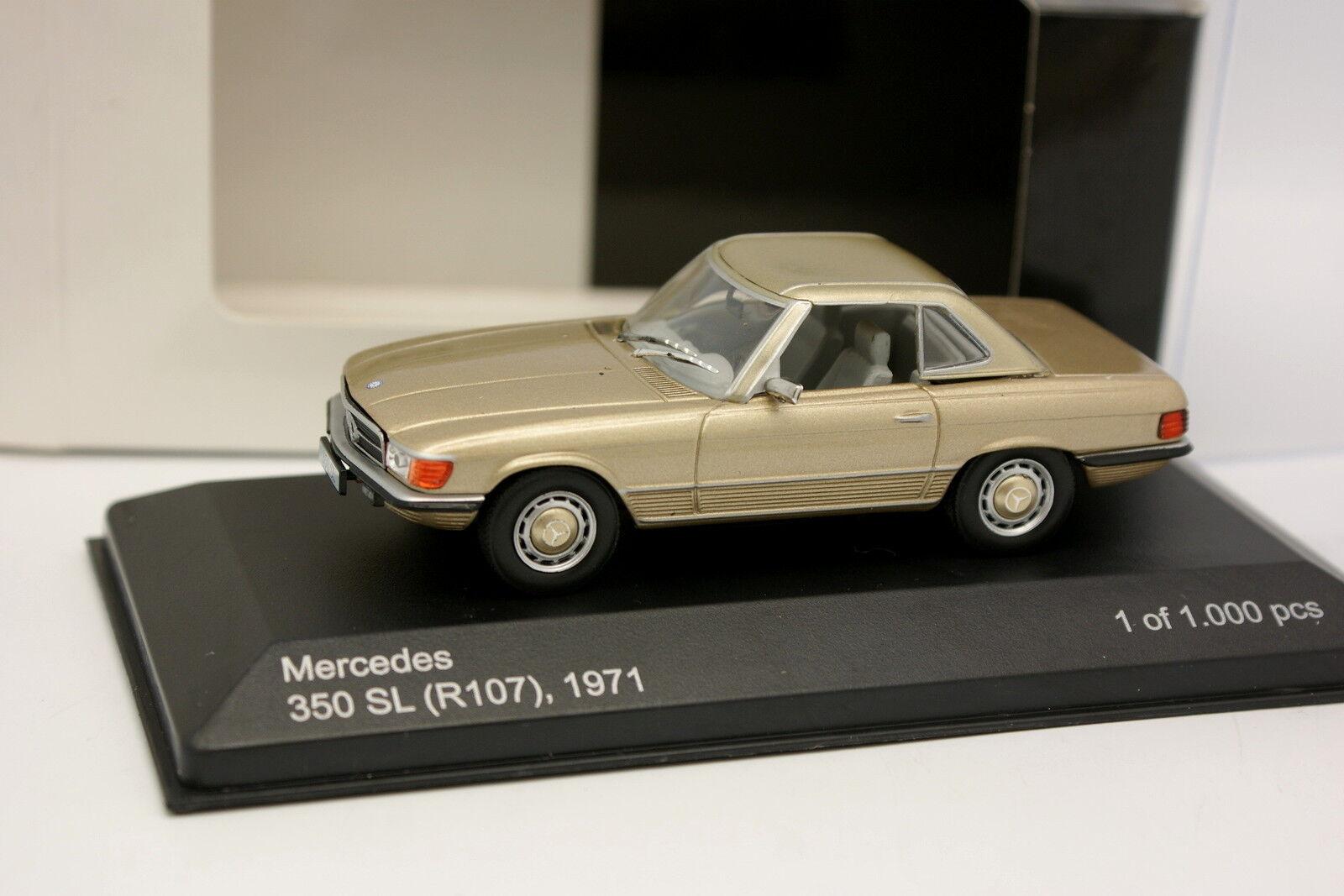 White White White Box 1 43 - Mercedes 350 SL R107 1971 Beige métal a2beed