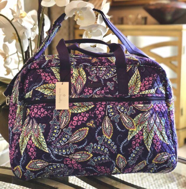 Vera Bradley Batik Leaves Grand Traveler Cotton Weekender Duffle Bag ... c4b19710f6dad