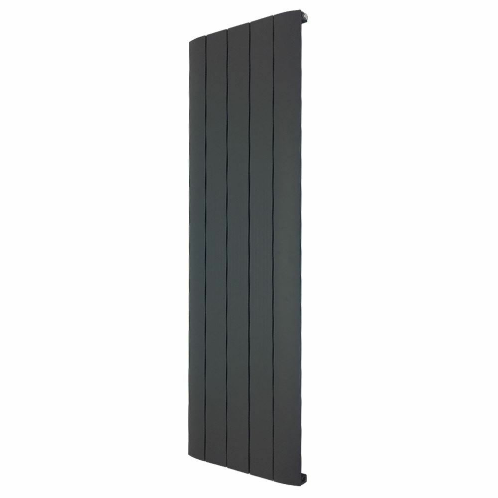 470 mm x 1800 mm  SUPREME  unique Vertical Anthracite Aluminium Radiateur 5584 BTU