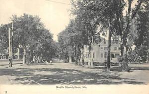 North-Street-Scene-Saco-Maine-Pre-1908-Vintage-Postcard