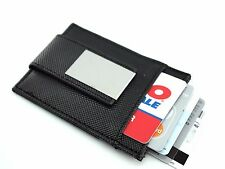 New Fashion Black Leather Wallet Case Card holder with Magnet Clip MoneyClip