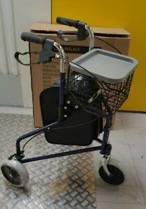 IMPO-Tri-Walker-3-Wheels-Walking-Rollator-Zimmer-Walking-Aid-NEW-BLUE