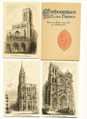 Long Art CardPostcard 8 14x4  21x10cm French Steps