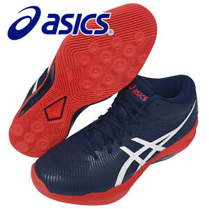 ASICS-VOLLEY-ELITE-FF-MT-Men-039-s-Volleyball-Shoes-Navy-Badminton-NWT-B700N-400