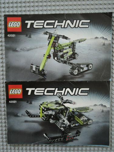 LEGO Bauanleitung Instruction  Technic 42021  2  Hefte ungelocht   GB