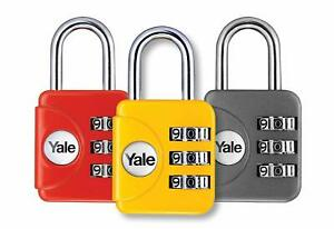 Yale-Zinc-Body-Travel-Lock-bagages-cadenas-Divers-Couleurs-YP1-28-121-1-30-mm