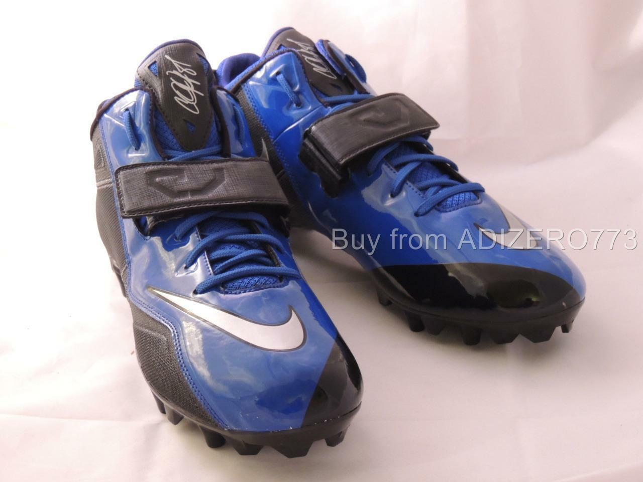 Nike CJ Strike 2 TD Football Cleats Black & bluee 678119 004 Men's 14 US
