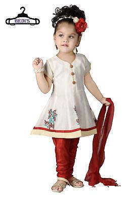 BABY GIRL SUIT INDIAN STYLE PARTY WEAR TOP SHIRT+LEGGINGS DUPATTA SUIT BGW-654