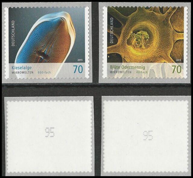 Mikrowelten - Kieselalge, Blüte Odermennig - Marken mit Nr. - Mi.Nr. 3205/3206