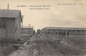 CPA-21-ALLEREY-CAMP-AMERICAIN-UNE-ALLEE