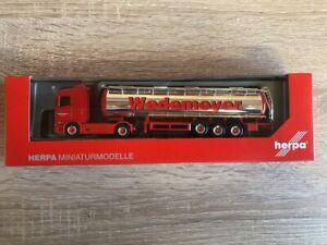 Herpa-310079-1-87-Scania-CS-20-Niederdach-Chromtank-Sattelzug-034-Wedemeyer-034