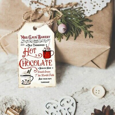 Christmas Cocoa Bar Party Alice in Wonderland Hot Chocolate Sign Wall Decor