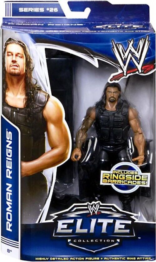 WWE Wrestling Elite Series 26 Rouomo Reigns azione cifra [Ringside Barricades]