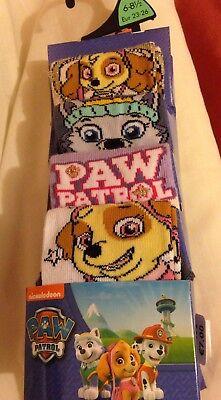 Coraggioso Kid's Socks 4 Paia, Paw Patrol, Taglia 6-8.5. Nuovo Con Etichetta-mostra Il Titolo Originale