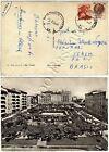 1498 - Repubblica - Michelangiolesca + Siracusana su cartolina per Brasile, 1961
