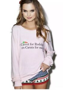 Wildfox Christmas Sweatshirt.Details About Wildfox 24 Carats Baggy Beach Jumper Pullover Christmas Sweater Rudolph Nwt Sm