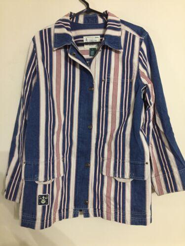 Nautical Striped Jeans Frakke Den Canvas Polo Vtg Large Ralph Lauren Sailin Jacket wpUYngqI