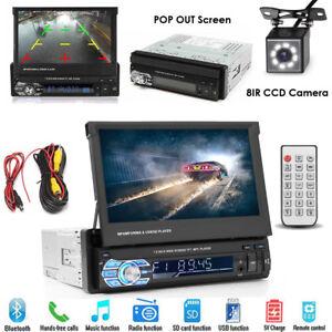 Kamera-Autoradio-7-034-Touchscreen-Bildschirm-Bluetooth-USB-SD-1DIN-Radio-MP3-MP5