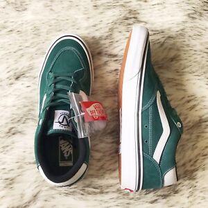New Vans Rowan Pro pine/white skate shoes men's size 9