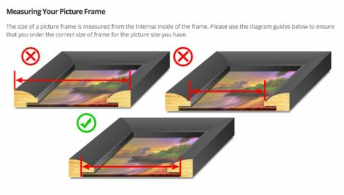 Narrow Black Gloss Photo//Picture Frame 14mm wide Domed moulding Various Sizes