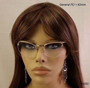 SHURON-True-Antique-CAT-EYE-Eyeglasses-amp-Case-12K-Gold-Fill-NOS-Pearl-Temples