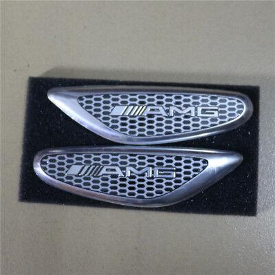 Pair Sports Big Aluminum Alloy Sticker Side Decal Badge Emblem Racing Turbo #1
