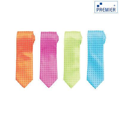 Premier Cravatta Quadrati Mini (pr768) - Ogni Giorno Da Uomo Ufficio Lavoro Usura Classico Cravatta-mostra Il Titolo Originale Ampie Varietà