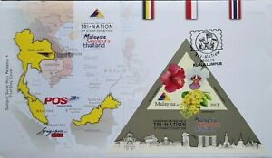 Malaysia FDC with Miniature Sheet (23.08.2013) - Tri-Nation 3rd Stamp Exhibition