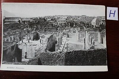 Gerade Postkarte Ansichtskarte Italien Pompei Panorama