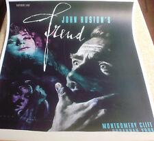 FREUD linen German '63 John Huston, Montgomery Clift, Susannah York,art by Rehak