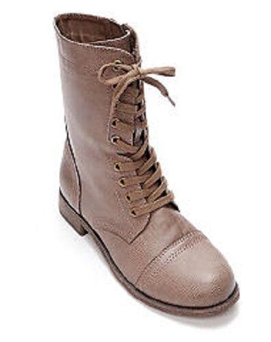 Rampage Jiminy Stone Beige Distressed Faux Leder Fashion Ankle Boot, 7.5M