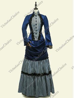 Victorian Bustle Riding Habit Bridal Gown Vintage Wedding Dress Theater Punk 139