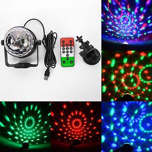 tragbar mini led discokugel disco dj lichteffekt usb rgb party club leuchte de ebay. Black Bedroom Furniture Sets. Home Design Ideas