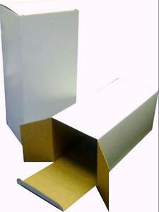 50 White Solidboard Cartons 100 X 100 X 240 mm