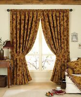 Period Style Winter Curtain Pair 90 X 90 Thick Heavy Weight Chenille Tapestry
