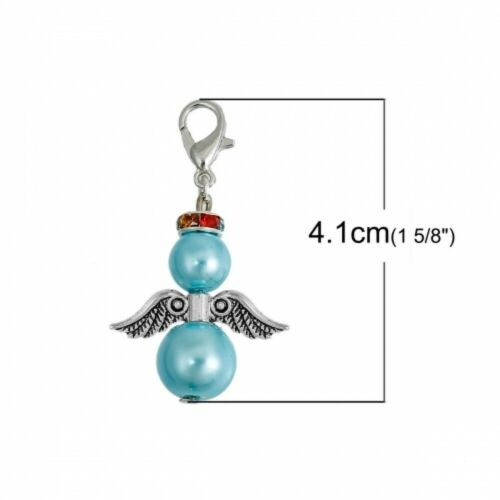 Angel Wing clip on Dangle Charms Pendentif pour Memory locket//Bracelet//porte-clés