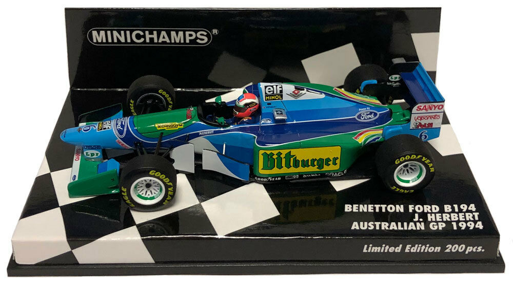 Minichamps Benetton B194 Australian GP 1994 - Johnny Herbert 1 43 Scale