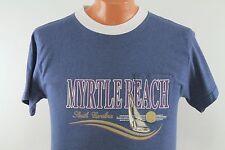 True Vtg Myrtle Beach T Shirt : Men's Medium M Slim - 90s Soft Funny Beach