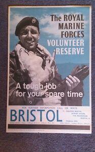 Original royal marines recruitment poster bristol commandos rmr ebay - Royal marines recruitment office ...
