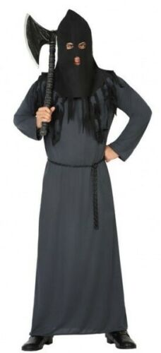 Adult Mens Halloween Hangman Executioner Fancy Dress Costume Outfit Size M//L