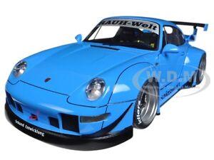 PORSCHE-RWB-993-BLUE-GUN-GREY-WHEELS-1-18-MODEL-CAR-BY-AUTOART-78152