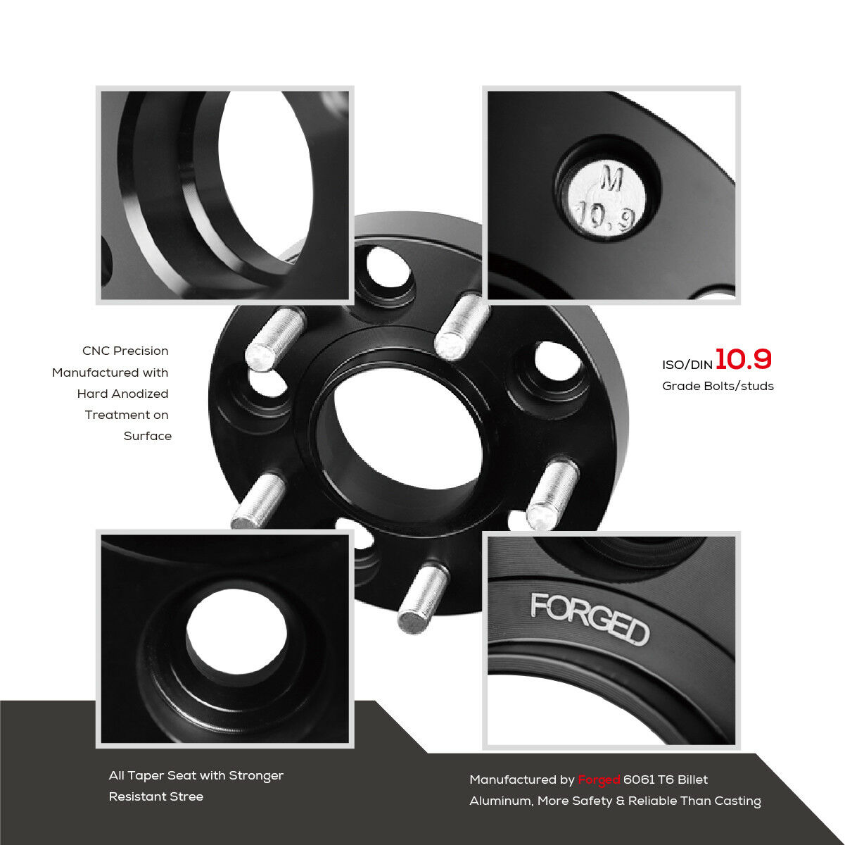 4pc 20mm Hubcentric Wheel Spacers For Honda & Acura 5x114