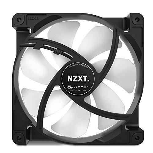 NZXT 140mm Case Cooling Fan Cooler White and Black Color RF-FX142-NP