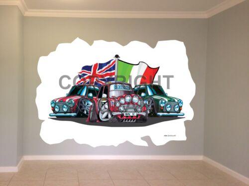 """Huge Koolart Cartoon /""""Italian Job/"""" Minis Wall Sticker Poster Mural 1839"""